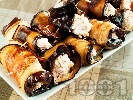 Рецепта Печени патладжани със сирене Фета и орехи